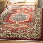 Land Red/Ivory Area Rug Rug Size: Rectangle 5'1