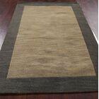 Aisha Gabbeh Indian Oriental Hand-Tufted Wool Brown/Black Area Rug