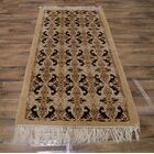 Cogdell Moroccan Oriental Traditional Hand-Knotted Wool Black/Brown Area Rug