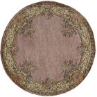 Laurel Hand-Tufted Wool Rose Area Rug Rug Size: Round 4'