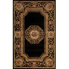 Laurel Hand-Tufted Wool Black Area Rug Rug Size: Octagon 6'