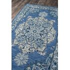 Lancaster Hand-Tufted Wool Denim Area Rug Rug Size: Rectangle 5' x 8'