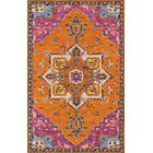 Lancaster Hand-Tufted Wool Orange Area Rug Rug Size: Rectangle 3' x 5'