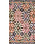 House Hand-Tufted Wool Pink/Blue Area Rug Rug Size: Rectangle 3'6