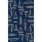 Dreadnought Hand-Hooked Navy Indoor/Outdoor Area Rug Rug Size: Round 9'
