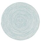 Longe Tweed Hand-Braided Federal Blue Indoor/Outdoor Area Rug Rug Size: Round 11'