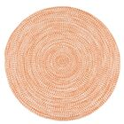 Longe Tweed Hand-Braided Rusted Orange Indoor/Outdoor Area Rug Rug Size: Round 7'