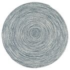 Longe Tweed Hand-Braided Arctic Blue Indoor/Outdoor Area Rug Rug Size: Round 8'