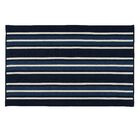 Madalynn Stripe Pier Hand-Braided Navy Indoor/Outdoor Area Rug Rug Size: Rectangle 4' x 6'
