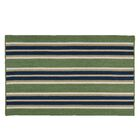 Madalynn Stripe Harbor Hand-Braided Green Indoor/Outdoor Area Rug Rug Size: Rectangle 8' x 11'