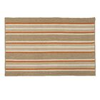 Madalynn Stripe Rusted Hand-Braided Sand Indoor/Outdoor Area Rug Rug Size: Rectangle 5' x 7'