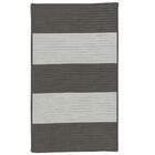 Javen Hand-Braided Gray Indoor/Outdoor Area Rug Rug Size: Rectangle 8' x 10'