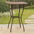 Polly Resin Wicker Bistro Table Base Color: Brown, Top Color: Brown