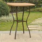 Polly Resin Wicker Bistro Table Base Color: Dark Brown, Top Color: Honey Pecan