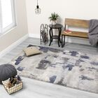 Cullerton Patches Gray/Blue Area Rug Rug Size: Rectangle 5'1'' x 7'7''