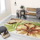 Guidry Large Flowers Cream/Orange Indoor/Outdoor Area Rug Rug Size: Rectangle 8' x 11'2''