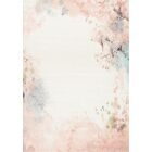 Helen Distressed Outline Cream/Pink Area Rug Rug Size: Rectangle 7'10