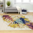 Babcock Paint Splash Beige/Yellow Area Rug Rug Size: Rectangle 5'3