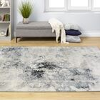 Ted Elegant Distressed Border Gray Area Rug Rug Size: Rectangle 5'3