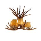 Presley Mule/Deer 6-Light Shaded Chandelier Shade Color: No Shade, Finish: Rustic Bronze Chain/Brown Antlers