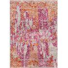 Aliza Handloom Pink/Rust Area Rug Rug Size: Round 6'