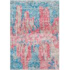 Aliza Handloom Blue/Rose Area Rug Rug Size: Round 6'