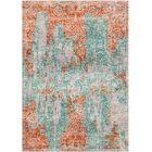 Aliza Handloom Blue/Terracotta Area Rug Rug Size: Rectangle 6' x 9'