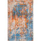 Aliza Handloom Orange/Blue Area Rug Rug Size: Rectangle 5'7