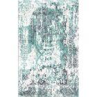 Aliza Handloom Blue/Ivory Area Rug Rug Size: Rectangle 8' x 10'