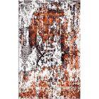 Aliza Handloom Rust/Gray Area Rug Rug Size: Square 6'