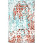Aliza Handloom Red/Blue Area Rug Rug Size: Rectangle 8' x 10'