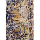 Ashford Handloom Gold/Blue Area Rug Rug Size: Square 9'