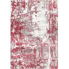 Ashford Handloom Red/Ivory Area Rug Rug Size: Rectangle 5'7