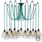 Esai 14-Light Cluster Pendant Shade Color: Black, Finish: Teal