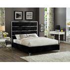 Dietz Upholstered Platform Bed Color: Black, Size: Queen