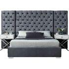 Sanders Upholstered Platform Bed Size: Queen, Color: Gray