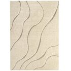 Ball Abstract Swirl Cream/Beige Indoor Area Rug Rug Size: Rectangle 8' x 10'