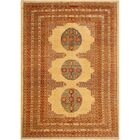 One-of-a-Kind Carmela Hand-Knotted Wool Ivory/Rust Area Rug