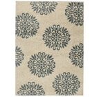 Coney Exploded Medallions Cream/Blue Area Rug Rug Size: Rectangle 3'4