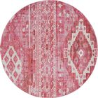Bearden Pink Area Rug Rug Size: Round 8'