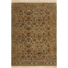 One-of-a-Kind Mcdavid Hand-Knotted Wool Light Green/Rust Area Rug