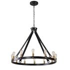 Clyde Circle 12-Light LED Wagon Wheel Chandelier