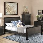 Sahil Sleigh 5 Piece Bedroom Set Bed Size: Queen, Color: Black