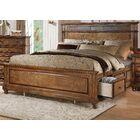 Saul Storage Panel Bed Size: California King