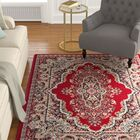 Perry Red Area Rug Rug Size: 7'11