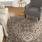 Allie Contemporary Beige/Black Area Rug Rug Size: Rectangle 8' x 10'