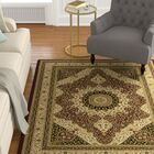 Ardent Burgundy/Brown Area Rug Rug Size: 7'11