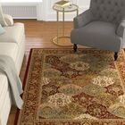 Altieri Red Area Rug Rug Size: 5'3
