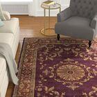 Latarra Hand Tufted Wool Burgundy Area Rug Rug Size: Rectangle 7'6