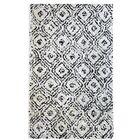 Painter Diamond Handwoven Cotton Black/Ivory Area Rug Rug Size: Rectangle 5' x 8'
